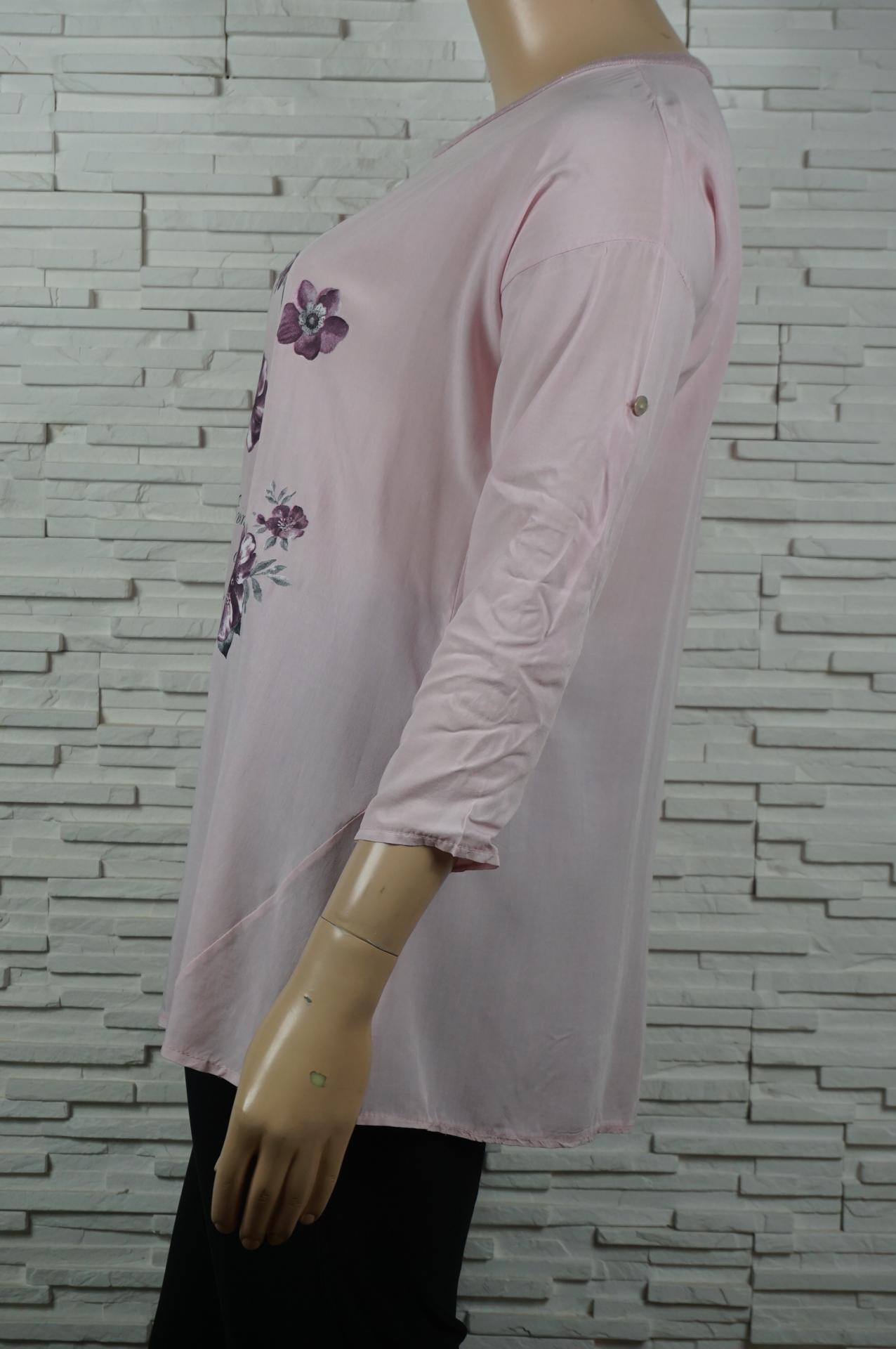 Tunique longue coton papillons et fleurs5