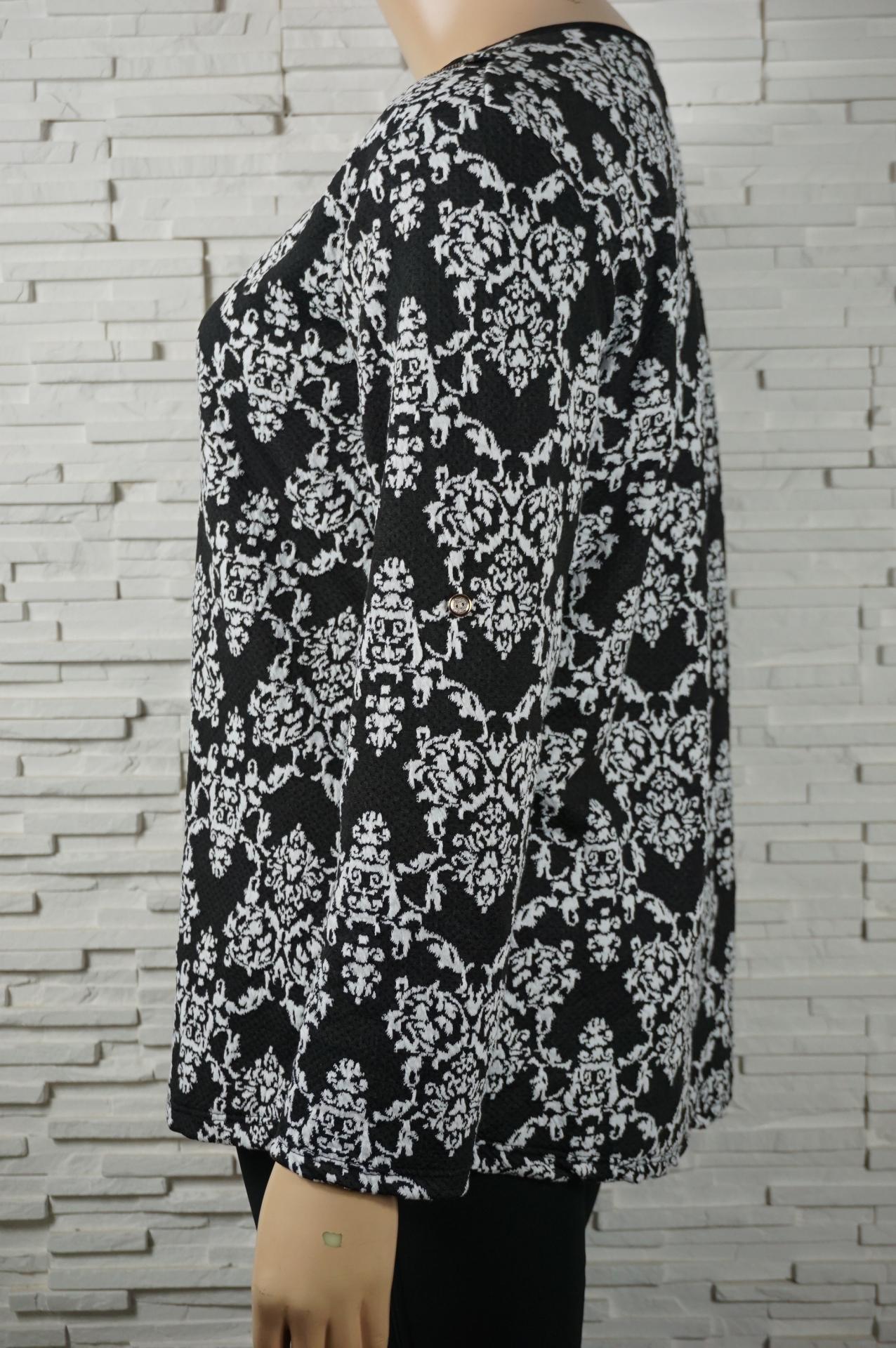 Tunique noir et blanc imprime 2