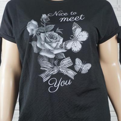 Tunique t shirt a fleurs1